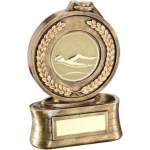 Medal Swimming Trophy Award 146mm Free Engraving (RF13B) td