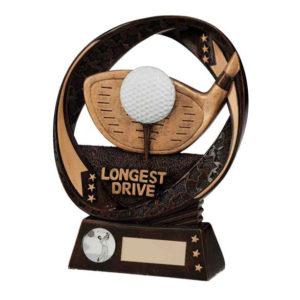 TYPHOON, Longest Drive Golf  Trophy/Award,170mm Free Engraving (RF16088A)trd