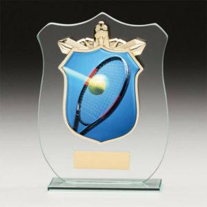 Tennis Titan Glass,Trophy,Award,120mm,FREE Engraving (CR15140A) trd