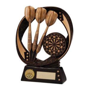 Typhoon Darts Trophy, Award 130mm, FREE Engraving (RF16083A)(TRD)