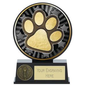 Vibe Dog Paw Trophy Award Puppy Doggie 120mm Free Engraving (PK212) gw