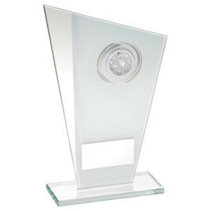 White & Silver Multi Dogs Trophy Award 184mm FREE Engraving (TD749M) td