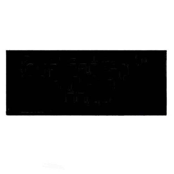 100 x Blank Engraving Nameplates 60mm x 25mm Black Self Adhesive