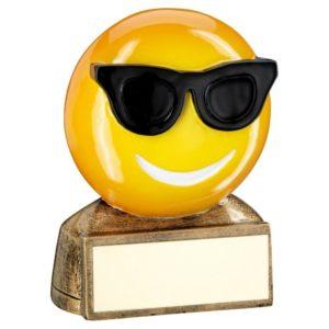 Emoji Cool Sunglasses Trophy Award Fun Kids 70mm Free Engraving (RF955) td