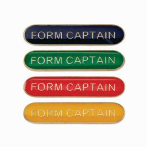 Form Captain Enamelled Bar School Badge, Red, Blue, Green, Yellow (SB16114)
