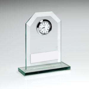 Jade Glass Clock, 3 Sizes, FREE Engraving, Ideal Gift, Anniversary, Wedding,(td)