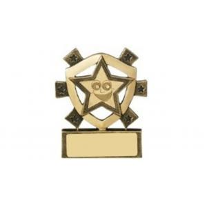 Mini Shield Smiley Star Trophy, Award, Fun, Kid's, 80mm,Free Engraving (RM693)