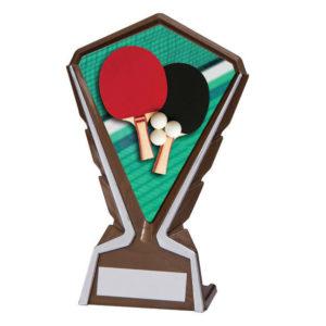Phoenix Table Tennis Plastic Plaque Trophy,160mm,FREE Engraving (AT4271K) cl