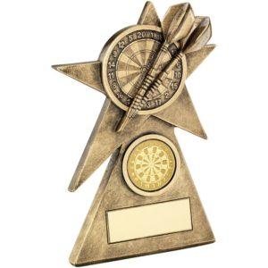 Star Darts Trophy Award 152mm Free Engraving (RF233C) td
