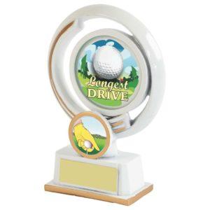 130mm Longest Drive Golf Trophy,Award,Free Engraving (640ZAP)twt