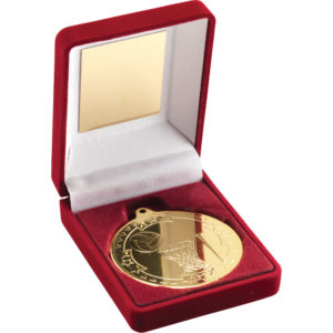 50mm Netball Medal With Red Medal Box,Gold,Silver,Bronze (TY53)