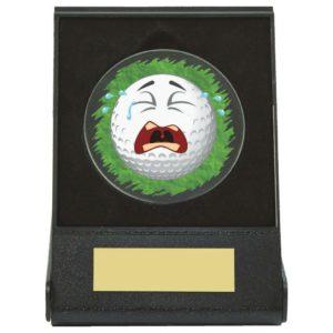 Crying Golf Ball Fun Trophy, Award, Free Engraving (668ZAP)twt