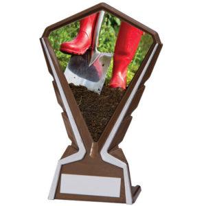 Gardening Plastic Plaque Trophy, Award, 160mm, FREE Engraving (AT4234K) cl