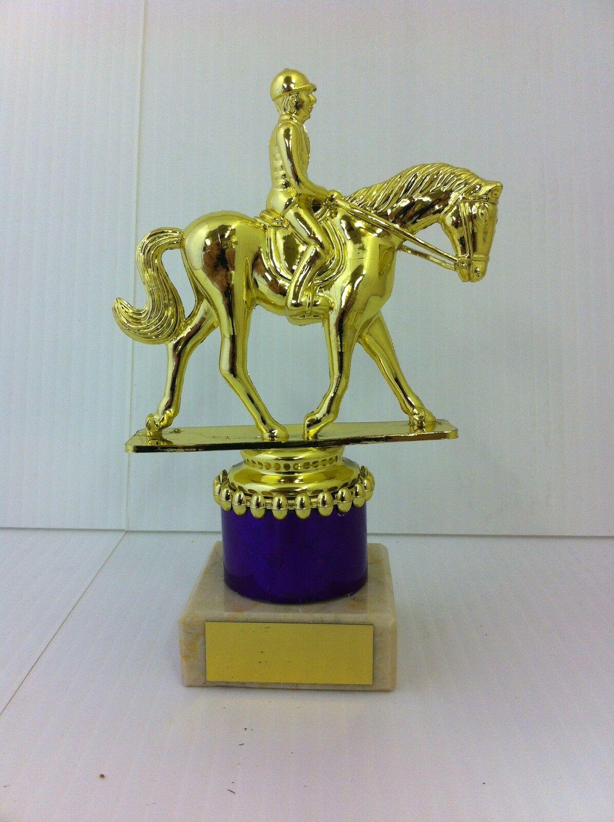 *Horse Pony Ribbon Trophy Award  **FREE ENGRAVING** 3 Sizes