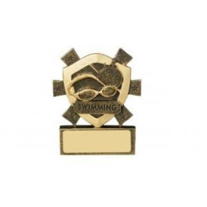 Mini Shield Swimming Trophy, Award, 80mm,Free Engraving (RM701)