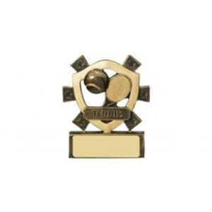 Mini Shield Tennis Trophy,80mm,Free Engraving (RM703)