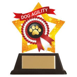 Mini Star Dog Agility Trophy, Acrylic 100mm Free Engraving (AC19651A)trd