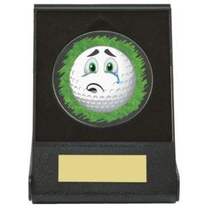 Sad Golf Ball Fun Trophy, Award, Free Engraving (669ZAP)twt